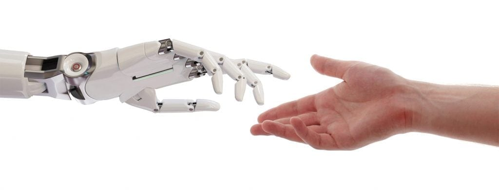 Human and Robot Hands Reaching
